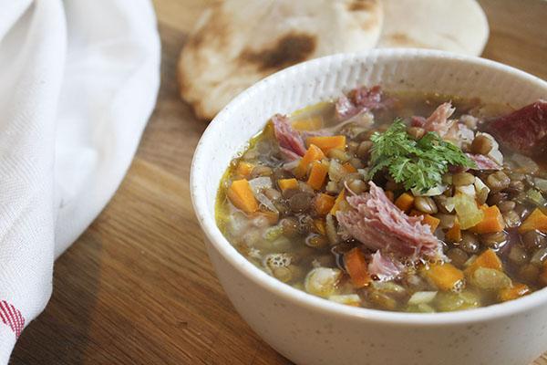 Pork Hock Lentil Soup