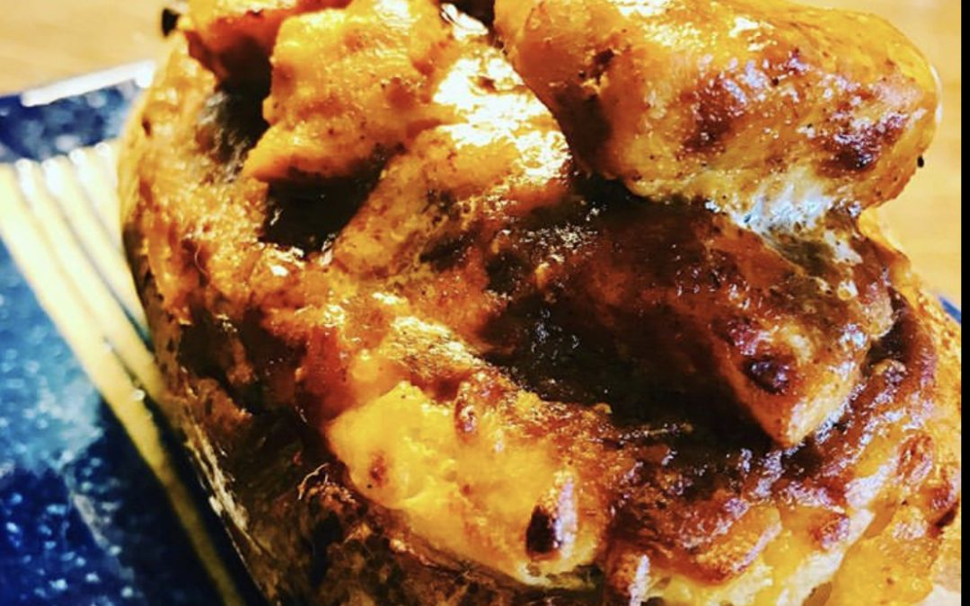 Twice Baked Butter Chicken Potato